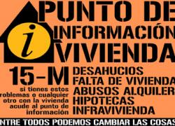 El Punto de Información de Vivienda del 15M de San Juan de Aznalfarache presenta mañana ante el pleno una Moción sobre desahucios, exclusión social y emergencia habitacional