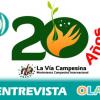 «La Vía Campesina lleva 20 años luchando por la justicia social y la dignidad del campesinado». Cristina Sancho (Plataforma Rural)
