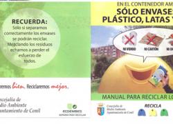 La localidad gaditana de Conil de la Frontera inicia una campaña de sensibilización sobre el reciclaje en colaboración con ECOEMBES