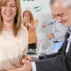 José Antonio Griñán, el hasta ahora presidente de la Junta, firma su renuncia al cargo durante la primera reunión del Consejo de Gobierno tras las vacaciones