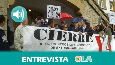 «Existen alternativas jurídicas y legales al internamiento de personas inmigrantes en los CIE, donde se priva de libertad sin motivos». Andrés de la Peña, portavoz APDH Campo de Gibraltar