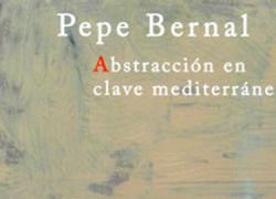 El artista huercalense Pepe Bernal presenta su exposición «La abstracción en clave mediterránea» en la Diputación de Almería