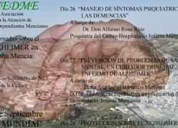 El municipio cordobés de Doña Mencía celebra unas jornadas de formación en materia de Alzheimer para cuidadores y ciudadanía en general
