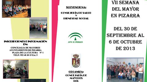 El municipio malagueño de Pizarra celebra esta semana la séptima edición de la Semana del Mayor con un amplio catálogo de actividades