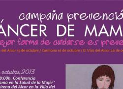 La campaña de prevención del cáncer de mama «La mejor forma de cuidarse en prevenir» llega al municipio sevillano de El Viso del Alcor