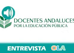 """""""Rechazamos el recorte de 176 millones de euros para el sector educativo y la tasa de reposición de sólo el 10% para un servicio esencial como es la educación en Andalucía"""", Julio Ortiga, Plat. Docentes Interinos"""