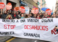 La plataforma Stop Desahucios de Granada consigue la dación en pago de una vivienda y su alquiler social para un vecino de la localidad de Ogíjares