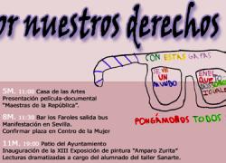 """La localidad de San Juan de Aznalfarache conmemora el 8 de marzo, Día internacional de los derechos de las mujeres, bajo el lema """"Por nuestros derechos"""""""