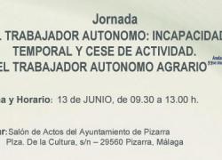 El Centro de Apoyo al Desarrollo Empresarial de Álora organiza en el Salón de Plenos de Pizarra unas jornadas informativas dirigidas a las personas trabajadoras autónomas