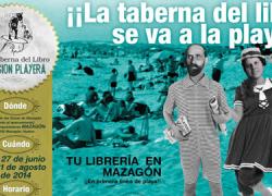 La librería La Taberna del Libro se traslada a la playa de Las Dunas de Mazagón durante los meses estivales para ofrecer un servicio literario a pie de playa acompañado de una amplia programación cultural