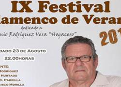 Paradas dedica la IX edición de su 'Festival de Flamenco', el próximo 23 de agosto, al artista localAntonio Rodríguez Vera «Hogacero»