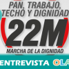 """""""Con la renta básica universal se conseguiría la autonomía de los trabajadores para trabajar con dignidad"""", Elena Holgado, portavoz de la Coordinadora Andaluz de la Marcha de la Dignidad"""