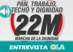 «Con la renta básica universal se conseguiría la autonomía de los trabajadores para trabajar con dignidad», Elena Holgado, portavoz de la Coordinadora Andaluz de la Marcha de la Dignidad
