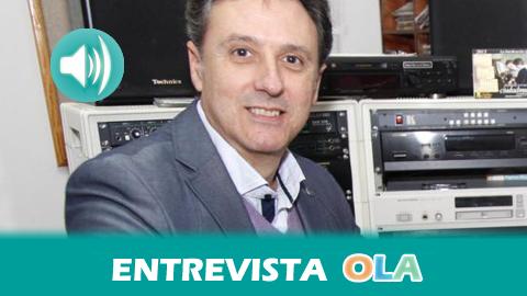 «La radio de Nerva podría tener ya 80 años porque en la década de los 30 Nerva ya contaba con una emisora de radio que vio truncada su labor por la Guerra Civil; fue a mitad de los 80 cuando se recuperó aquel proyecto», Juan Antonio Hipólito, director de Onda Minera – Nerva (Huelva)