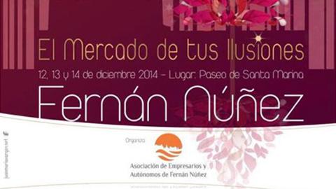 Fernán Núñez abre hoy las puertas de su primer Mercado Navideño con el objetivo de promocionar el comercio local a la vez que se facilitan las compras navideñas a los vecinos y visitantes