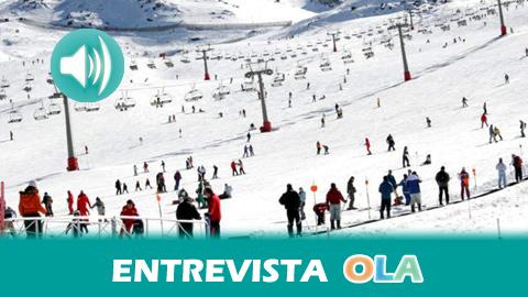 """""""Sierra Nevada ofrece 60 kms amplísimos, de grandes recorridos, muy divertidos y con nieve de bastante buena calidad"""", Santiago Sevilla, jefe de Comunicación de CETURSA"""