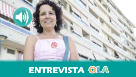 «Las viviendas que ofrecen los bancos a las personas en exclusión no reúnen las condiciones adecuadas para las familias, sin embargo sigue habiendo especulación inmobiliaria», Isabel Jiménez, portavoz PAH Málaga