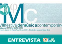 """""""El Festival de Música Contemporánea da a conocer la música clásica de la actualidad a través de sus mejores intérpretes"""", Juan de Dios García, director artístico Festival de Música Contemporánea Córdoba"""