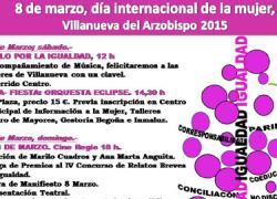 Comienza los preparativos para el Día Internacional de la Mujer en la localidad jienense de Villanueva del Arzobispo con un programa de actividades culturales y de ocio para los días 7 y 8 de marzo