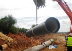 125.000 habitantes se beneficiarán de las mejoras del abastecimiento a los municipios del Consorcio del Plan Écija, cuyas obras en la conducción Marchena-Montepalacio-Arahal acaban de empezar