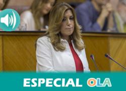 Especial Debate Investidura. La oposición reafirma su voto en contra de la elección de Susana Díaz como presidenta en la segunda sesión  de debate. IU, Ciudadanos y Podemos ya han dicho que no la apoyarán