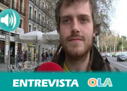 """""""La juventud española tiene tres opciones concretas: paro, precariedad o la necesidad de irse del país porque la situación aquí no permite salir adelante"""", Pablo Padilla, integrante de Juventud Sin Futuro"""