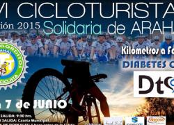 El municipio sevillano de Arahal celebra el próximo domingo la edición 2015 de la VI Marcha Cicloturista solidaria, cuyos beneficios irán destinados en esta ocasión a la Asociación Diabetes Cero
