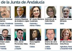 Susana Díaz presenta el nuevo Gobierno andaluz con ocho caras nuevas, presencia de todas las provincias y con competencias exclusivas para Educación, Cultura y Salud