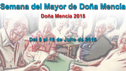El municipio cordobés de Doña Mencía pone en marcha del 6 al 10 de julio, una nueva edición de su semana del mayor con un programa de actividades dirigidas al envejecimiento activo de las personas mayores