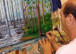 El guillenero Cristino Camisón Arteaga expone su obra en una muestra en la Galería de Artes de París, gracias a la beca que recibió en el IV Encuentro Internacional de Arte de Villa de Guillena