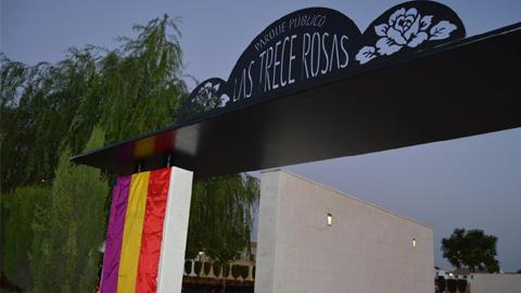 """Pedrera inaugura el parque """"De las trece rosas"""" coincidiendo con el 76 aniversario del asesinato de estas mujeres republicanas a manos de militares franquistas durante la Guerra Civil Española"""