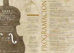 """Aracena acoge la XXII edición de la Muestra de Música Antigua """"Castillo de Aracena"""" desde el 27 al 30 de agosto, con multitud de actividades para disfrutar y debatir sobre instrumentos y estilos tradicionales"""