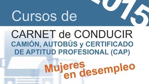 Mujeres en situación de desempleo del municipio cordobés de El Carpio pueden acceder a nuevos cursos para la obtención del carnet de conducir de camión, autobús y sus certificados de aptitud profesional