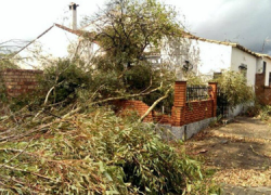 El vecindario de Cortegana que tiene en la pedanía de Valdelamusa su primera residencia ya disfrutan de la reparación de los desperfectos y destrozos en sus viviendas ocasionados por el temporal del año pasado