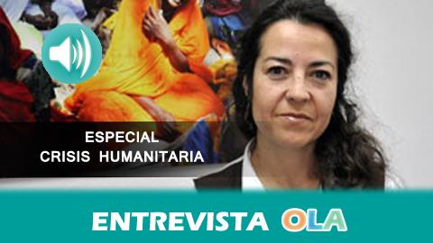 """""""Mientras no invirtamos en prevención de guerras, cooperación y apoyo a países empobrecidos, millones de personas seguirán gastando todo para salvar su vida"""", María Jesús Vega, portavoz ACNUR España"""