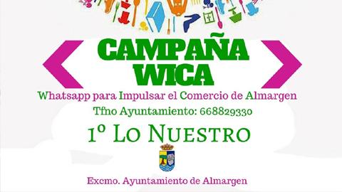 La localidad malagueña de Almargen lanza la iniciativa WICA que busca impulsar el comercio local por medio de la aplicación móvil WhatsApp mediante una campaña informativa sobre establecimientos