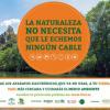 """Hoy comienza en Arahalla campaña de información y concienciación ciudadana """"La Naturaleza no necesita que le echemos ningún cable"""" para promocionar el reciclaje de pequeños electrodomésticos"""