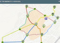 Arahal adapta su Plano de Movilidad Peatonal a la plataforma Google Maps y se convierte en la primera ciudad del mundo que cuenta con un plano digital de movilidad peatonal: el «Metrominuto digital»