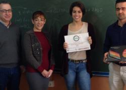 La Feria de Emprendedores e Ideas Empresariales organizada por el Centro de Apoyo al Desarrollo Empresarial de Huelva entrega el primer premio a una estudiante del IES Vázquez Díaz de Nerva