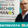 """""""Diamantino García convocó a mujeres y hombres de Andalucía para hacer frente a los problemas que estaban sufriendo tantas personas y, desde entonces, el paso ha sido firme"""", Jesús Roiz, portavoz APDHA"""