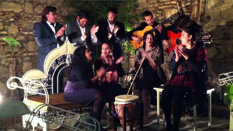 Roquetas de Mar celebra una zambombada flamenca solidaria en el Auditorio Municipal para recaudar fondos con el fin de ayudar a una niña de la localidad que padece la enfermedad Niemann-Pick Tipo C