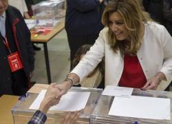 20D ELECCIONES GENERALES: El PSOE gana las elecciones en Andalucía con 22 escaños, a uno de diferencia del Partido Popular que consigue 21; les siguen los partidos emergentes Podemos con 10 y C's con 8