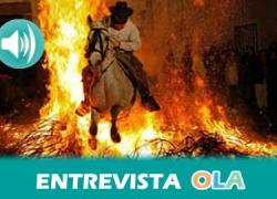 """""""Alosno ha sido siempre un pueblo agrícola y ganadero y todas las casas tenían animales para el trabajo; con el fuego los purificaban para evitar enfermedades"""", Ramón J. Díaz, técnico Cultura – Alosno (Huelva)"""