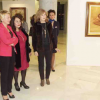 Una exposición del artista almeriense Cantón Checa reúne una selección de su obra pictórica en el Teatro Auditorio de Roquetas de Mar, muestra que estará abierta al público hasta el próximo 31 de marzo