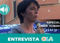 """""""La crisis humanitaria en Lesbos estuvo gestionada por las personas voluntarias y las ONG's durante los primeros meses. Las instituciones se dedicaban al registro"""", Caterina Amicucci, voluntaria en Lesbos"""