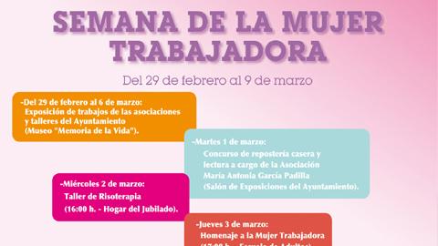 """Campillos celebra la """"Semana de la Mujer Trabajadora"""", en conmemoración del Día de la Mujer, con una programación llena de actividades por la igualdad en las que colaboran varias asociaciones locales"""