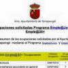 Torreperogil informa a los desempleados y desempleadas del municipio jiennense sobre cuáles son las ocupaciones que se han solicitado para los Programas Emple@Joven y Emple@30+ a la Junta de Andalucía