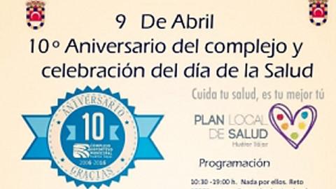 """Solidaridad, salud y deporte se unen bajo el lema """"Cuida tu salud, es tu mejor tú"""" en Huétor Tájar celebrando el décimo aniversario del Complejo Deportivo Municipal y el Día Internacional de la Salud"""