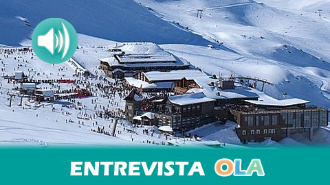 """""""En primavera Sierra Nevada es casi la única estación abierta en el país, ofreciendo a los incondicionales de la nieve, 35 kms esquiables y un desnivel de 1.100 m"""", Santiago Sevilla, CETURSA – Sierra Nevada"""