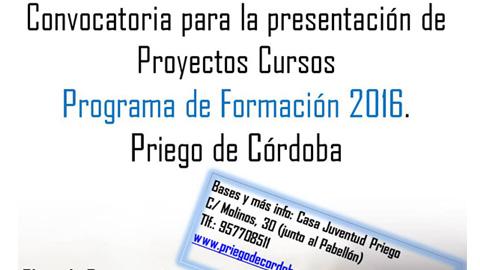 La Delegación de Juventud de Priego de Córdoba abre el plazo de la segunda convocatoria del Programa de Formación, una iniciativa que, en verano, ofrecerá cursos y talleres de interés para el colectivo